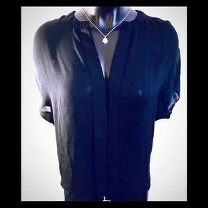 Sheer black blouse- size small